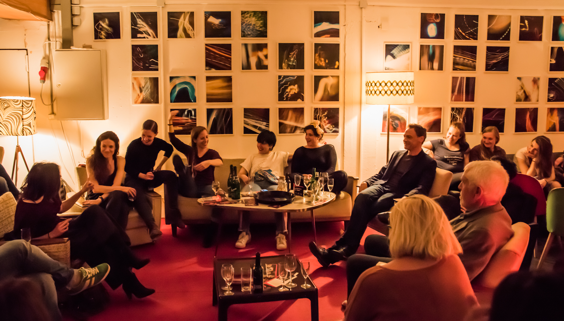 During our festival, the artist talks are held in the cosy ambience of our lounge © Chang-Chih Chen